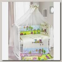 Комплект постели в кроватку Bombus Family, 7 предметов