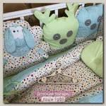Комплект в кроватку GulSara Лесная компания 8 предметов (7 предметов+кокон)