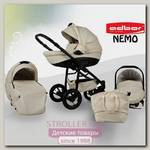 Детская коляска Adbor Nemo Exlusive 3 в 1, эко-кожа