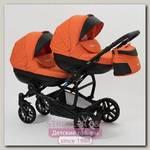 Детская коляска для двойни и близнецов Mr Sandman Duet 2 в 1, 50% эко-кожа