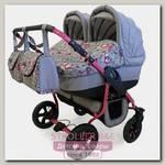 Детская коляска для двойни Polmobil Viva 2 в 1