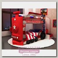 Двухъярусная кровать-машина Red-River Ред-Ривер Паровоз