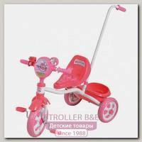 Детский трехколесный велосипед 1Toy 1Той Angry Birds с ручкой Т57659, Т56839, Т56840