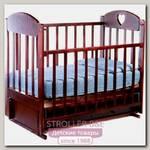Кроватка детская Ведрус Иришка 3, маятник, с ящиком, накладка сердечко