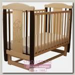 Детская кроватка Соня 04 Девочка, поперечный маятник, без ящика