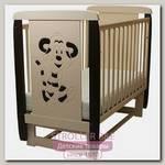 Детская кроватка Соня 04 Тигренок 3Д, поперечный маятник, без ящика