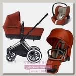 Детская коляска Cybex Priam Lux 3 в 1, шасси All Terrain Chrome