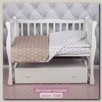 Комплект постельного белья в кроватку AmaroBaby Baby Boom из бязи, 3 предмета