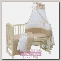 Комплект постели в кроватку Polini Плюшевые мишки, 7 предметов