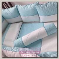 Комплект постели для прямоугольной кроватки Marele Голубая Лагуна 460015-12, 18 предметов