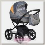 Детская коляска Indigo 18 Special Plus 14' 2 в 1, ткань + эко-кожа