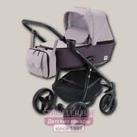 Детская коляска Adamex Reggio 3 в 1, ткань+эко-кожа