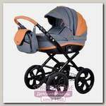 Детская коляска Adamex Marcello Carmel & Grey 2 в 1, ткань+эко-кожа