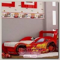 Детская кроватка-машинка Молния Red-River с выдвижным ящиком