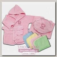 Комплект Топотушки: халат 6-24 м. + полотенце из махры с вышивкой