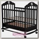 Детская кроватка Briciola 7, колесо-качалка, с автостенкой и ящиком