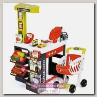 Супермаркет с тележкой Smoby 350210 и 350206 со звуком, 41 предмет