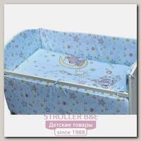 Постельное белье в кроватку Makkaroni Kids Баю-Бай с выбором бортиков, 6 предметов