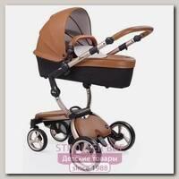 Детская коляска Mima Xari Flair 3G 2 в 1, кожа, шасси Rose Gold