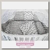 Бортик WB в кроватку AmaroBaby Радуги, 12 подушек