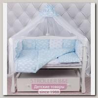Универсальный комплект постели в кроватку AmaroBaby Воздушный, 19 предметов