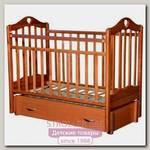 Детская кроватка Антел Каролина 6 продольный маятник+ящик