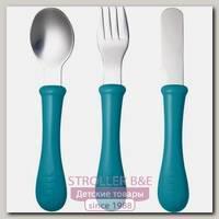 Набор детской посуды: ложка, вилка, нож Beaba Set of 3 Cutlery Inox