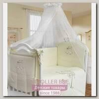 Комплект постели в кроватку L'abeille Совушки, 6 предметов