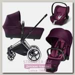 Детская коляска Cybex Priam Lux 3 в 1, шасси City Light Chrome
