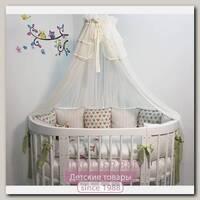 Комплект постели для кроватки Marele Совы 460060-10, 16 предметов