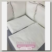 Комплект постели для круглой и овальной кроватки Marele Греческий Серый 460252-ов, 19 предметов