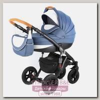 Детская коляска Adamex Avila Pretty 3 в 1, ткань+эко-кожа