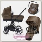 Детская коляска Cybex Priam Lux 3 в 1, шасси Trekking Chrome