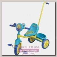 Детский трехколесный велосипед 1Toy 1Той Губка Боб с ручкой Т57575