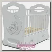 Детская кроватка Baby Elite Мишка на Луне поперечный маятник