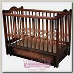 Детская кроватка Счастливый Малыш Дюймовочка, поперечный маятник