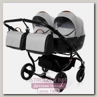 Детская коляска для двойни Junama Madena Duo 2 в 1, ткань+эко-кожа