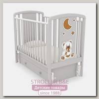 Детская кроватка Angela Bella Жаклин универсальный маятник (Мишка с соской)
