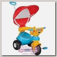 Трехколесный велосипед Pilsan Happy с родительской ручкой и тентом, 07-161