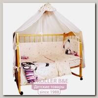 Комплект постельного белья в кроватку AmaroBaby Little Bear, 7 предметов, сатин