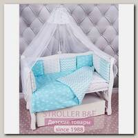Комплект Premium в кроватку AmaroBaby Royal Baby, 18 предметов (6+12 бортиков), бязь