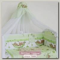 Комплект в кроватку Сонная сказка Мишки в Гамаке, 7 предметов