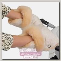 Меховая муфта-рукавички для коляски Esspero Carina из 100 % натуральной шерсти