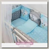 Комплект для круглой кроватки ByTwinz Еноты 7 предметов