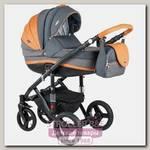 Детская коляска BeBe-Mobile Movo A 2 в 1, ткань+эко-кожа