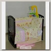 Комплект в кроватку Сонная сказка Мишки и Зайки, 6 предметов