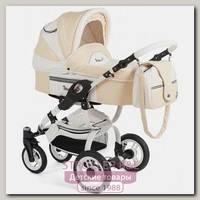 Детская коляска Reindeer City Lily 2 в 1, эко-кожа, люлька+автокресло