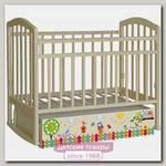 Детская кроватка Антел Поющие Совята Алита-4, поперечный маятнк + закрытый ящик