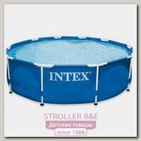 Каркасный семейный бассейн Intex Интекс круглый c56994