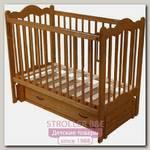 Детская кроватка Счастливый Малыш Дюймовочка, продольный маятник